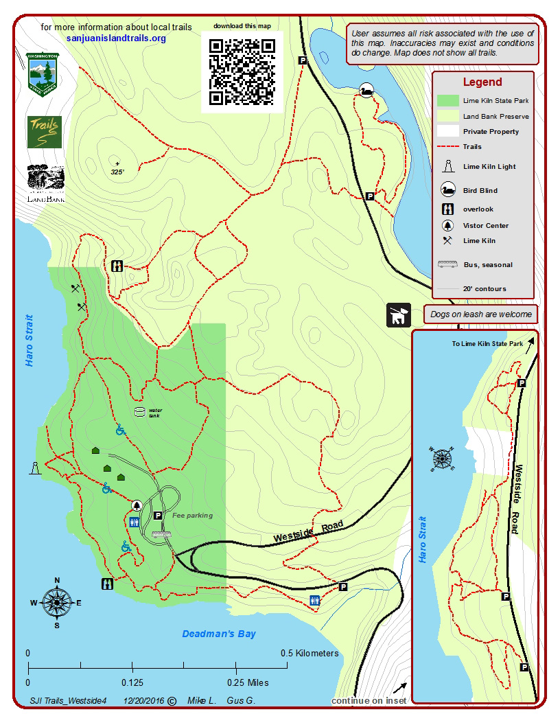 Kiln Park Map Lime Kiln Park and the West Side – San Juan Island Trails Kiln Park Map